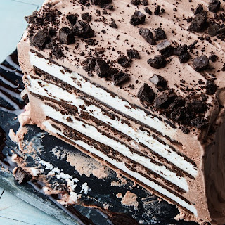 Mint-Chocolate Ice Cream Sandwich Cake