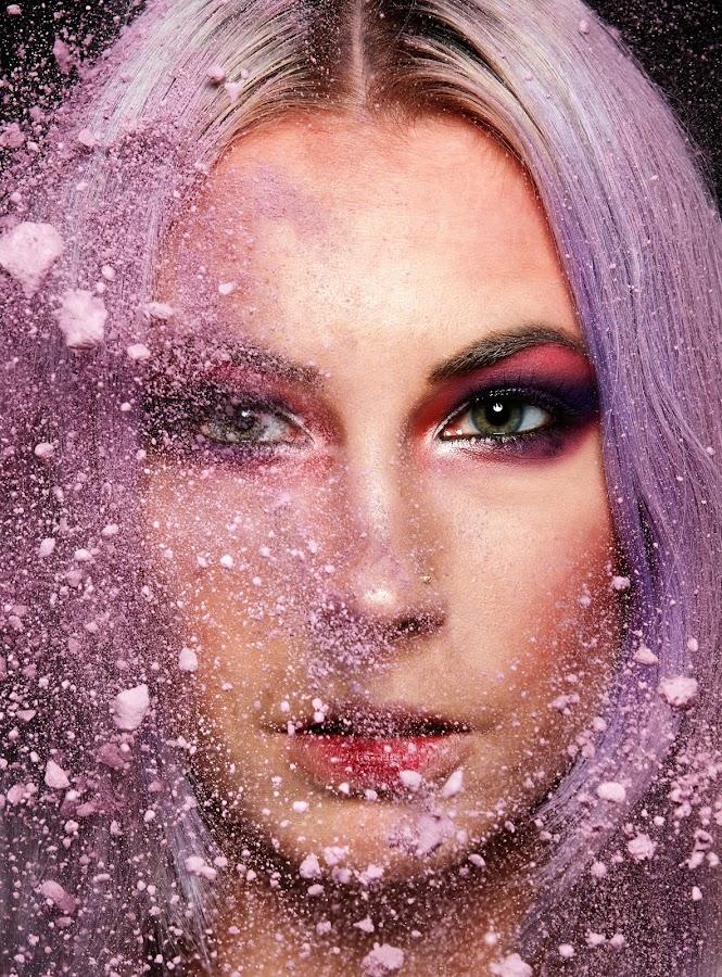 Purples by Mani Singh - People Portraits of Women ( glamour, canon, model, purple, beautiful, powder, fashion photography, portrait, eyes )