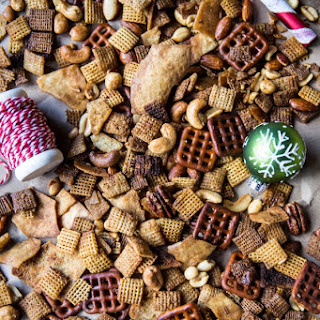 Easy Crockpot (Christmas Eve) Chex Mix.