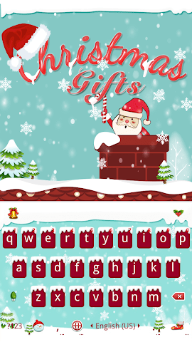 android Christmas Gifts Emoji Keyboard Screenshot 0