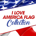 I Love America Flag Collection icon