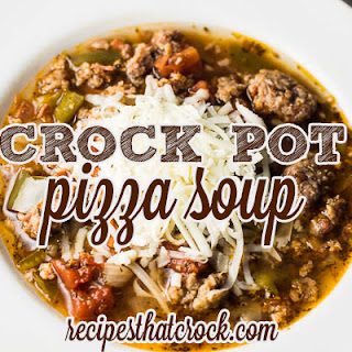 Pizza Soup {Crock Pot}