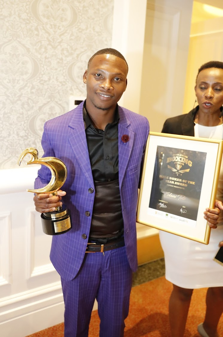 WBO bantamweight champion Zolani Tete was voted BSA boxer of the year for 2017's wards at Boardwalk Casino7 in Port Elizabeth on Friday evening: