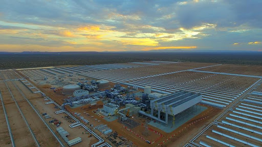 An aerial view of the Kathu Solar Park.