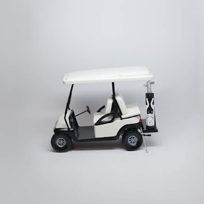 3d printing gallery image of a golf cart intended for use as a commercial tv prop