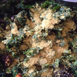 Kale Salad with Dried Cherries and Almonds.