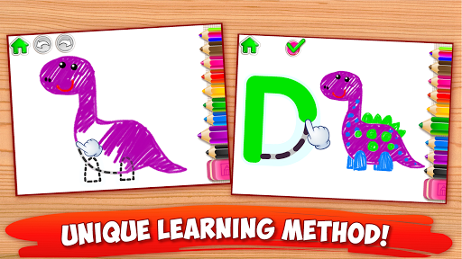 ABC DRAW ud83cudfa8 Kids Drawing! Alphabet Games Preschool  screenshots 2