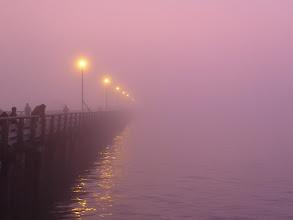 Photo: Berkeley Fishing Pier during foggy sunset