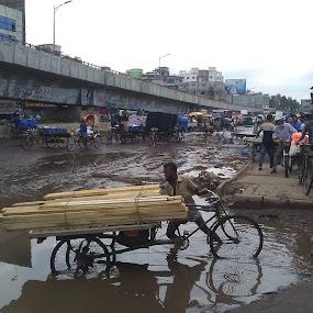 Life...? by Md Zakir Hossain - City,  Street & Park  Street Scenes ( water, life, hands, road, people )