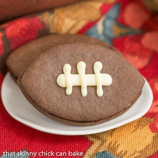Chocolate Football Cookies #SundaySupper