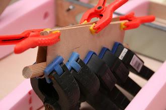 Photo: curvatura del rivestimento per il foro di passaggio dell'asta di comando del anti tab