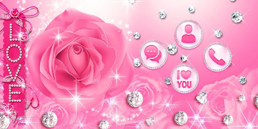 Diamond Pink Rose Theme  screenshots 4