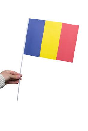 Pappersflagga, Rumänien