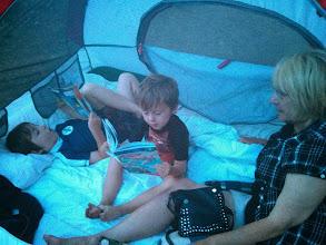 Photo: Finn Reads to Grandma