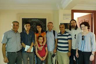 Photo: at Kurdish Institute of Istanbul, with Zana Farqini, director of the institute