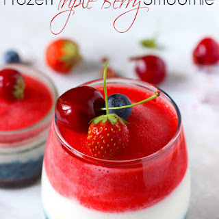 Triple Berry Frozen Smoothies