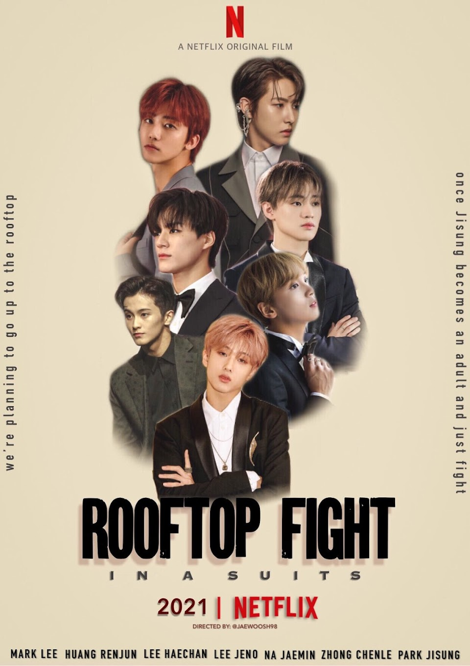 nct dream rooftop fight netflix @jaewoosh98