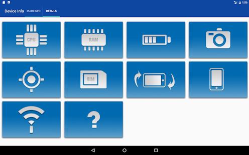 App Device Info-SIM,CPU,NETWORK,GPS,SENSORS and more APK for Windows Phone