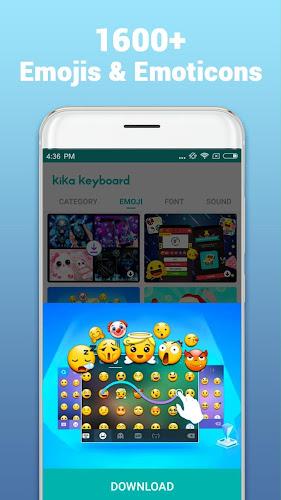 Kika Keyboard - Emoji Keyboard, Emoticon, GIF Android App Screenshot