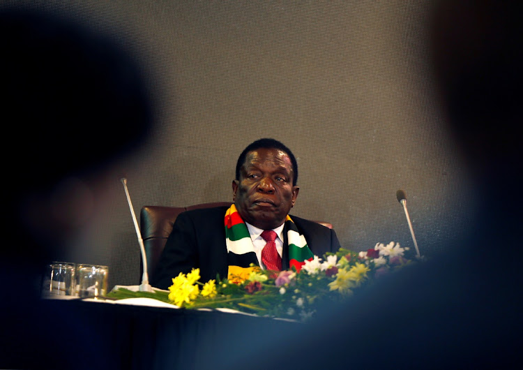 Zimbabwe President Emmerson Mnangagwa attends a meeting with labour unions in Harare, Zimbabwe, June 5 2019. Picture: REUTERS/PHILIMON BULAWAYO