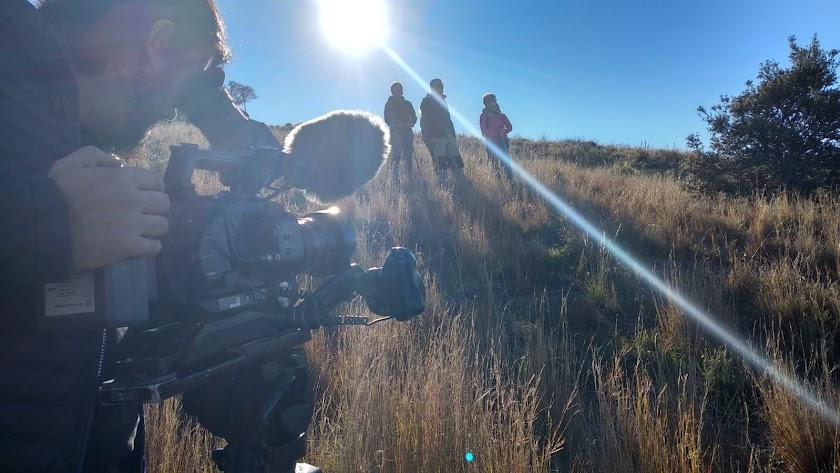 Un momento de la grabación del vídeo.