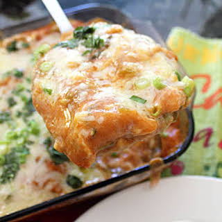 Creamy Beef Enchilada Casserole.