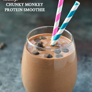 Chunky Monkey Protein Smoothie.