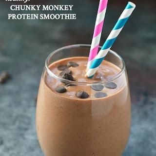 Chunky Monkey Protein Smoothie.