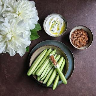 Mini Cucumber with Greek Yogurt & Savory Granola