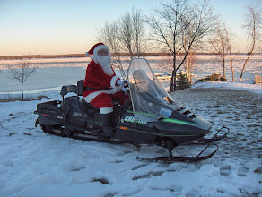 Photo: Santa Claus arriving at the Lighthouse Lounge