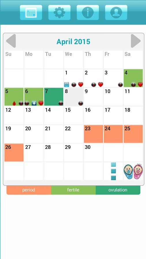 Calendar Mysteries April Adventure Quiz : Menstrual period tracker android apps on google play