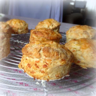 Apple And Cheddar Scones.