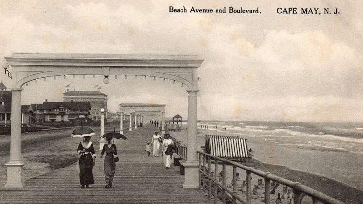 Cape May's Victorian promenade.