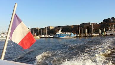 Photo: Vue sur le petit port de Pen Mané, à Locmiquélic