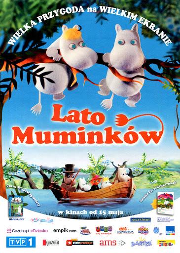 Przód ulotki filmu 'Lato Muminków'
