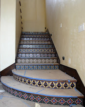 Photo: Malibu Tile Works - Stair Risers - Private Residence - Malibu, CA
