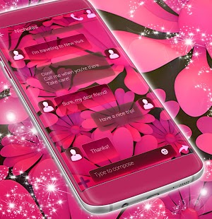 Pink SMS Theme - náhled