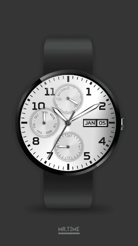 android Mr.Time : Metallic Blue Screenshot 2