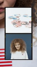 Multiracial Voter and Pins - Photo Collage item