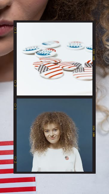 Multiracial Voter and Pins - Facebook Story Template