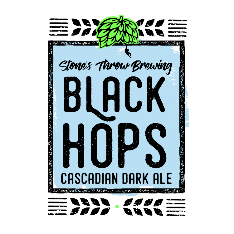 Logo of Stone's Throw Black Hops IPA