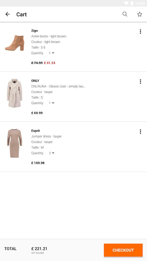 zalando shopping fashion screenshot
