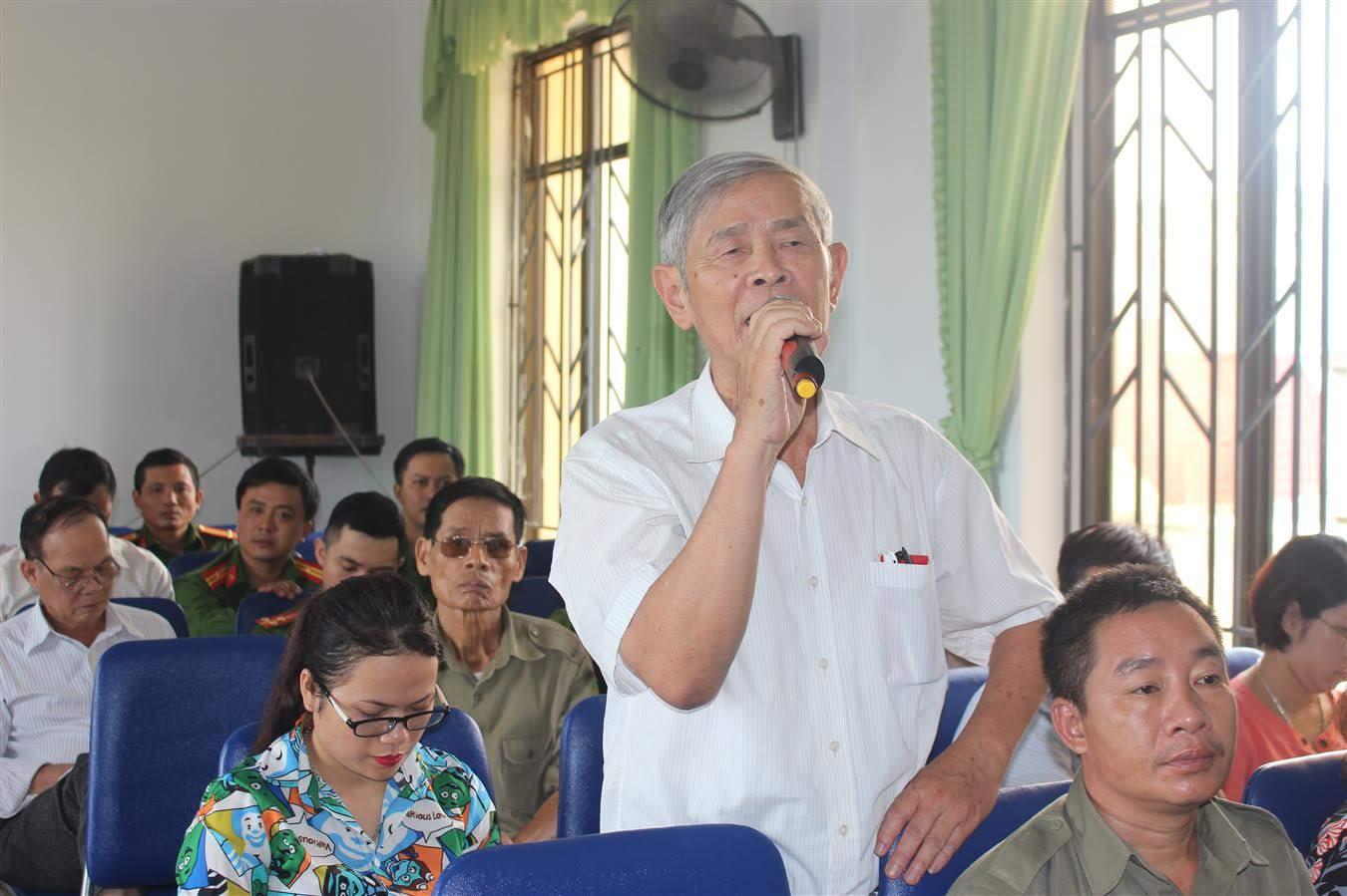 Đông đảo người dân tham gia góp ý kiến xây dựng lực lượng Công an ngày càng vững mạnh hơn