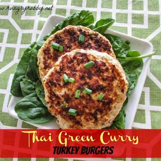 Green Curry Turkey Burgers