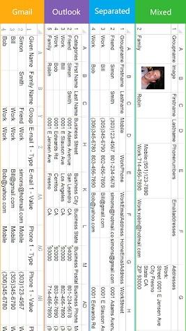 SA Contacts Screenshot