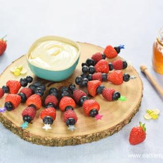 Summer Berry Skewers with Honey Vanilla Dip Recipe