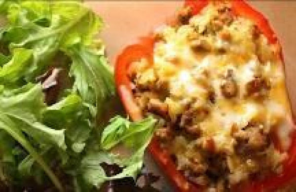 Cheesy Stuffed Red Peppers Recipe