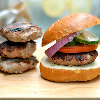 Grilled Greek Turkey Burgers with Whipped Feta Recipe