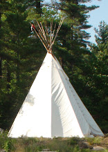 Photo: Our TeePee  13 Poles to Represent 13 Moons