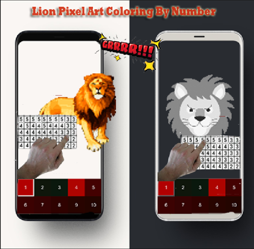 Lion Pixel Art-Animal Coloring By Number 7.0 screenshots 6
